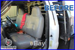 2000 Ford F250 XL Work Truck -Bottom Bench Seat Replacement Vinyl Cover Gray