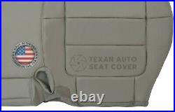 2001, 2002 Ford F150 Lariat Super Crew Passenger Bench Leather Seat Cover Gray