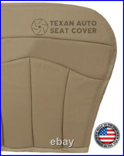 2001 Ford F150 Lariat FX4 Passenger Bench Synthetic Leather Seat Cover Tan 60/40