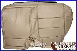 2001 Ford F250 Lariat Passenger Side Bench 60/40 Bottom Leather Seat Cover Tan