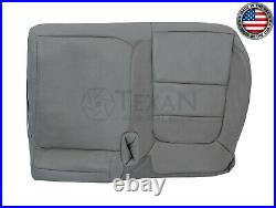 2002, 2003 Ford F150 Lariat Crew Cab Passenger Bench Leather Seat Cover Gray
