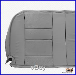 2002 Ford F250 F350 Lariat Bench Bottom Seat Cover Perforated Leather Color Gray