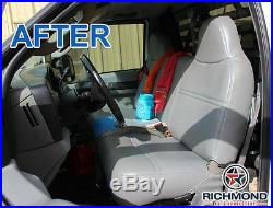 2003-2007 Ford F250 F350 F450 F550 XL -Lean Back Bench Seat Vinyl Cover Gray