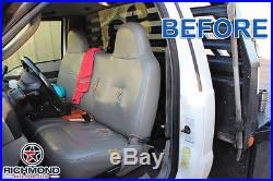 2003 Ford F250 F350 F450 F550 XL -Bottom Bench Seat Replacement Vinyl Cover Gray