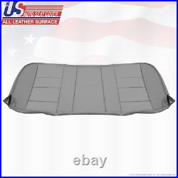 2004 2005 Ford F250 F350 Lariat Rear Bench Bottom Leather Seat Cover Color Gray