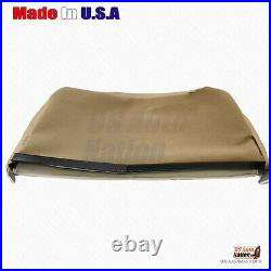 2005 2006 2007 Ford F250 F350 Rear 60/40 Bench Bottom Leather Seat Cover In TAN