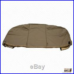 2005-2007 Ford F250 F350 F450 F550 XL Flatbed -Bottom Vinyl Bench Seat Cover Tan