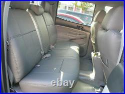 2015-2018 Chevy Silverado Gmc Sierra Double Cab Clazzio Leather Seat Cover