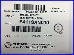 2020 Subaru LEGACY Rear Bench Seat Cover NEW F411SAN010 Genuine OEM CUSTOM FIT