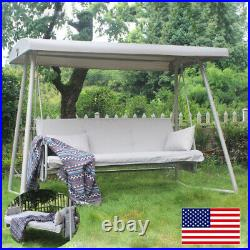 3 Person Outdoor Patio Swing Chair Bench Canopy Porch Top Cover Seat Garden Home