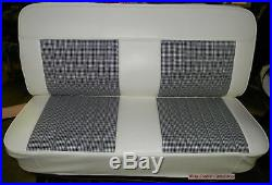 47-55 Chevy Truck Houndstooth Upholstery Bench Seat Cover