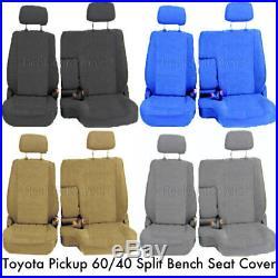 60/40 Split Bench Seat Cover Detachable Headrest Custom Exact Fit for Pickup