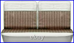 62-64 Chevy II Nova Fawn Cloth Front Split Bench Seat Cover PUI