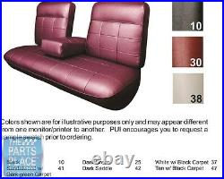 63 DeVille Black With Black Carpet Bench With Armrest Seat Cover Coupe Rear PUI