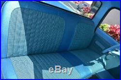 67-72 Chevy/GMC C10 Truck Orange/Black Houndstooth Bench Seat Cover Made in USA