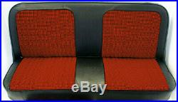 67-72 Chevy/GMC C10 Truck Red/Black Houndstooth Bench Seat Cover Made in USA