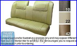 70 Riviera Dk Saddle Front Strato Bench With Armrest Seat Cover Hardtop Rear PUI