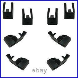 78-88 G-Body MANUAL 45/55 Split BENCH Seat Track Leg Mount Plastic Cover 8pc SET