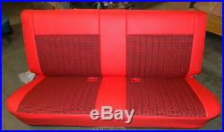 81-87 Chevy Truck Houndstooth/Leather Look Upholstery Bench Seat Cover