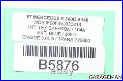 96-02 Mercedes W210 E300 E420 Rear Top Upper Seat Cushion Cover Tex Saffron OEM