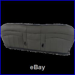 98 03 Ford F150, F250, F350 Work Truck Limited Bench Seat Bottom cover Vinyl GRAY