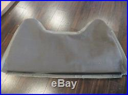 98 -03 Ford F250, F350 Crew Cab Work Truck Bench Lean back Seat cover Vinyl Gray