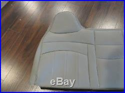 98 -03 Ford F250, F350 Standard Work Truck Bench Lean back Seat cover Vinyl Gray