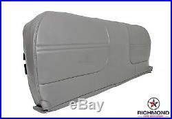 99 00 01 Ford F250 F350 F450 XL -Bottom Bench Seat Replacement Vinyl Cover Gray