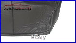99 00 Chevy Tahoe Z71 Second Row Bench 60 Bottom Leather Seat Cover 2-Tone Gray