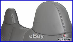 99-01 Ford F250 F350 F450 XL -Lean Back Bench Seat Replacement Vinyl Cover Gray