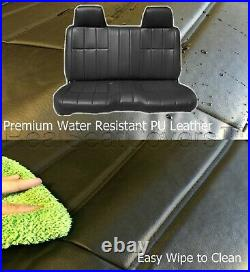 A25 PUBK Compact Truck XCab RCab Small Notched Cushion Bench Black Seat Cover