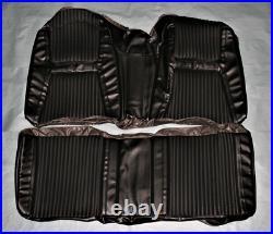 AA65CM00040100 1965 Chrysler 300 300L Hardtop Black Rear Bench Seat Cover