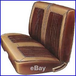 AA69CRW0020100 - 1969 Belvedere Front Split Bench seat cover in BLACK