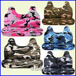 AFCC camouflage bench seat cover molded headrest 24colors fits Ford f150-250-350