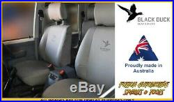BLACK DUCK Canvas Seat Cover Bench 2nd Row for Toyota Prado 95 Series 05/96-1998