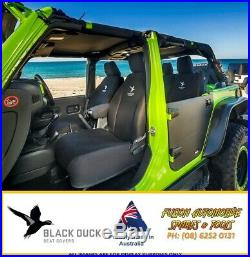 BLACK DUCK Seat Cover for Toyota Landcruiser 75 Series TROOPY Bucket 3/4 Bench