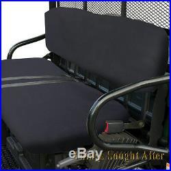 BLACK SEAT COVER 2007 POLARIS RANGER 2x4 4x4 6x6 EFI 500 700 & CREW Bench Set
