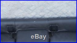 BMW 1 Series E87 LCI Seat Cover Black Leather Interior Rear Seat Bench Couch