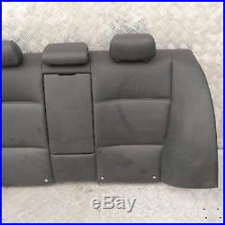 BMW 3 SERIES E90 Black Leather Schwarz Cover Backrest Rear Seat Couch