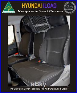 BUCKET BENCH Front Neoprene Seat Cover Fits Hyundai iLoad (Feb 08-now)