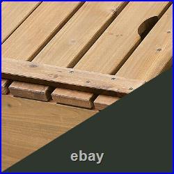 Badger Basket Covered Cedar Sandbox w Canopy and 2 Bench Seats