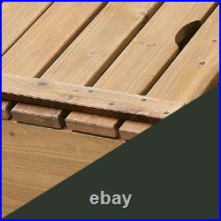 Badger Basket Sandbox with Canopy Cover Wood for Backyard And 2 Play Bench Seats