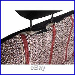 Baja Saddle Blanket Bench Full Size Seat Cover Fits Chevrolet Dodge Truck (Red)