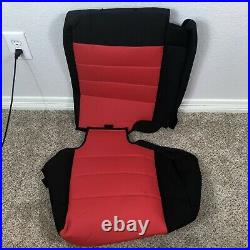 Bartact Supreme Rear Split Bench Seat Cover Black And Red