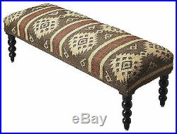 Benches Sedona Upholstered Bench Kilim Seat Cover Free Shipping