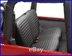 Bestop 29221-15 Black Denim Rear Bench Seat Cover fits 97-02 Wrangler TJ