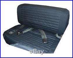 Bestop 29223-15 Rear Bench Seat Cover Black Denim for Jeep CJ-5, CJ-7 & Wrangler