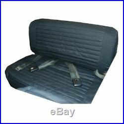 Bestop 29223-15 Seat Cover Rear Bench Seat Black Denim Fits 1965-1995 CJ5 CJ7
