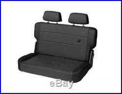 Bestop 39441-15 TrailMax II Black Rear Bench Seat Cover for 55-95 CJ & Wrangler