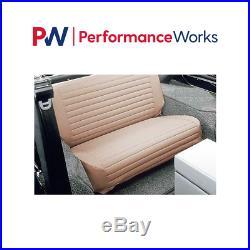 Bestop For 65-83 CJ5, 76-86 CJ7, 87-95 Wrangler Rear Seat Cover Tan #29223-04